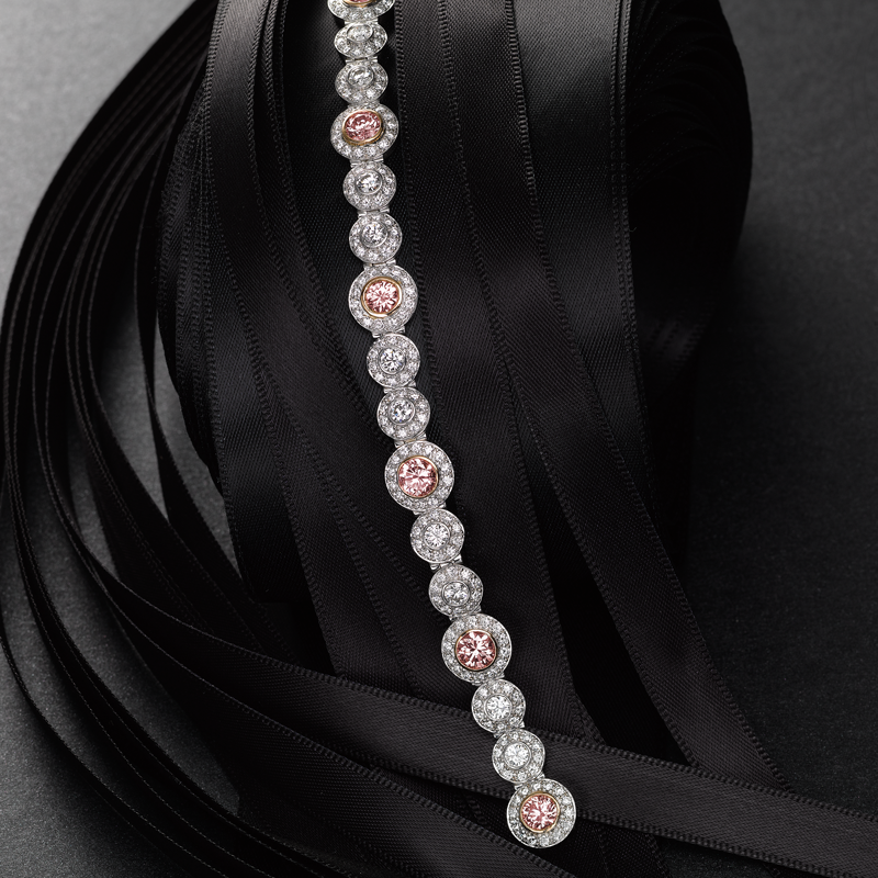 Bracelet with Fancy Pink Diamonds