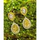 Jeffrey Daniels Fancy Yellow And White Diamond Earring