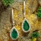 Jeffrey Daniel Emerald And Diamond Drop Earring