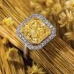 Jeffrey Daniels Fancy Yellow Diamond Ring