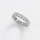 Gem Platinum Oval Cut Diamond Eternity Band