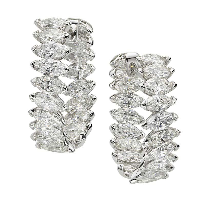 Jeffrey Daniels Fancy Hoop Earrings