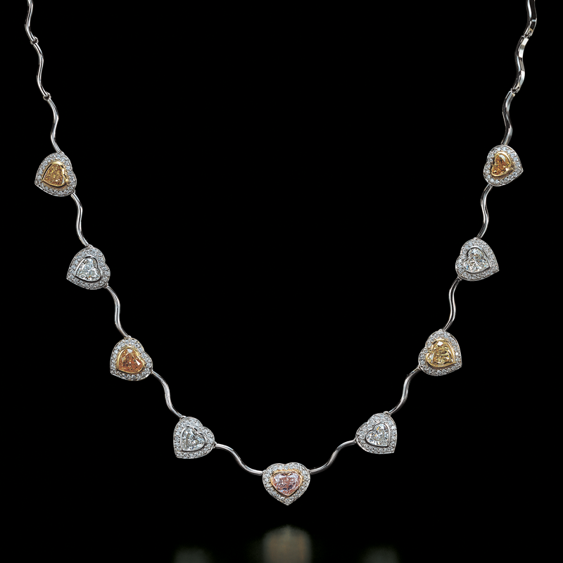 Jeffrey Daniels Fancy Color Diamond Necklace