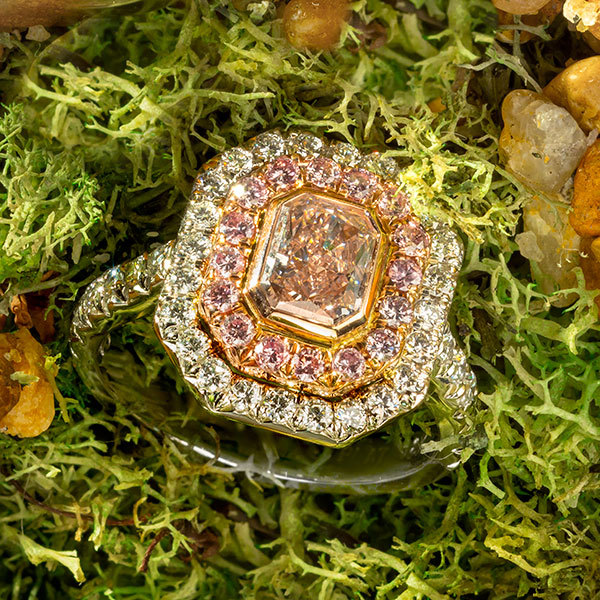 Jeff Daniels fancy Pink Diamond Ring
