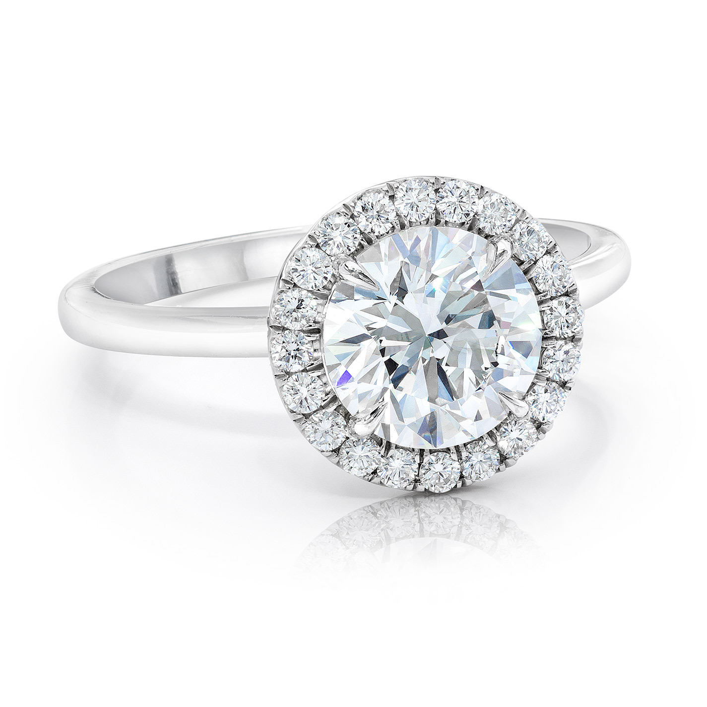 Round Brilliant Diamond Halo Solitaire Ring In Platinum - See more at: http://www.gemplatinum.com/collections/gem-platinum/rings/jeffrey-daniels-diamond-ring.html#sthash.csmDdveJ.dpuf
