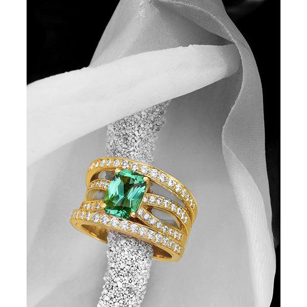 Jeffrey Daniels Chrome Green Tourmaline Ring