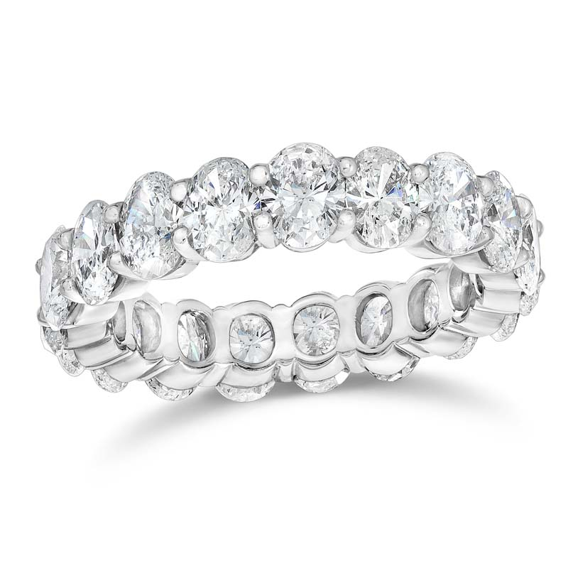 Gem Platinum Oval Diamond Eternity Band