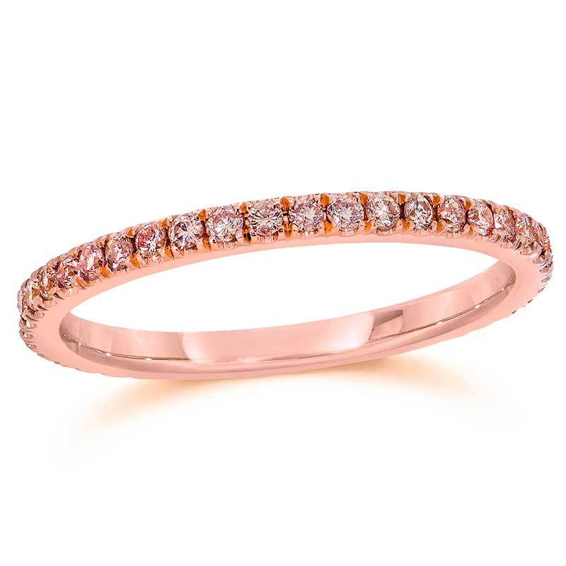 pink diamond wedding ring