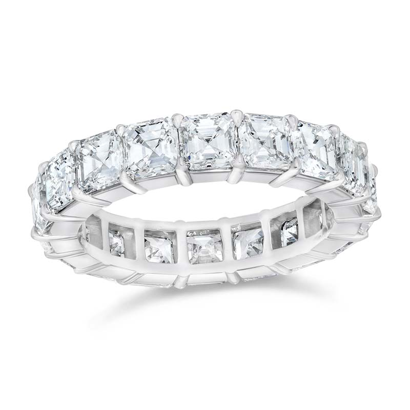band maximira diamond products eternity asscher cut