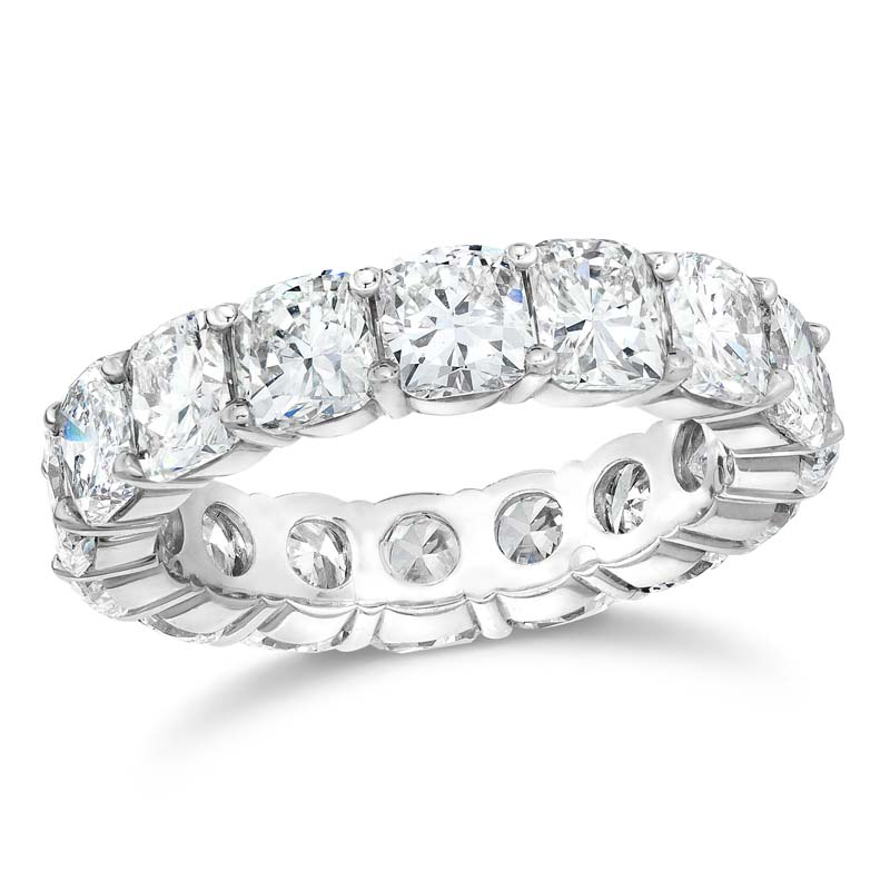 Cushion Cut Diamond Eternity Ring Band
