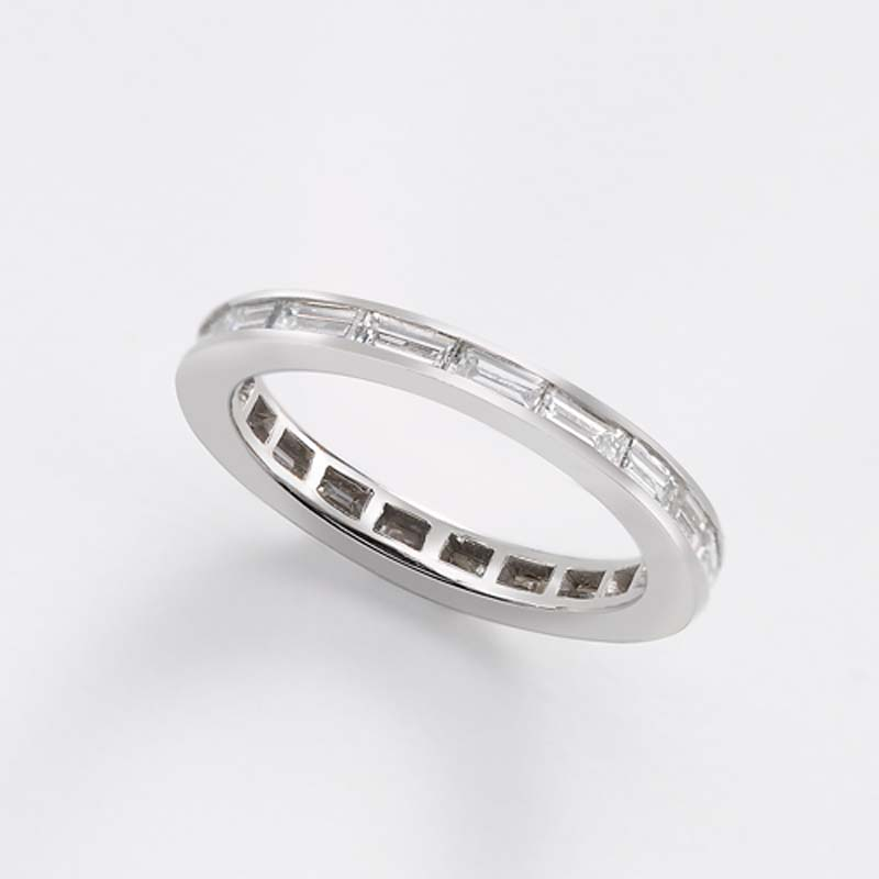 platinum heidi bands baguette wedding gibson eternity band