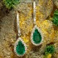 Jeffrey Daniel Emerald And Diamond Drop Earring