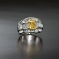 Jeffrey Daniels Yellow Diamond Cocktail Ring