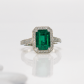 Jeffrey Daniels Emerald Ring
