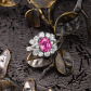 Jeffrey Daniels Pink Sapphire Cocktail Ring