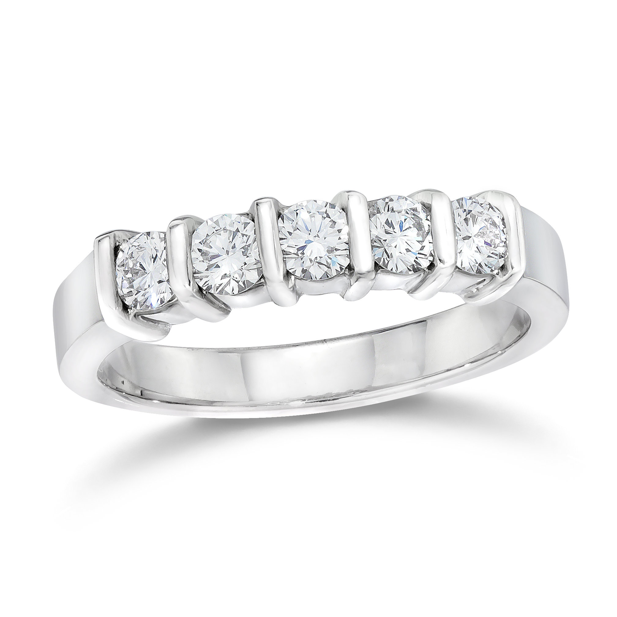 5 stone Wedding Ring In Platinum - http://www.gemplatinum.com/collections/gem-platinum/wedding-rings/gem-platinum-round-cut-diamond-5-stone-wedding-band-554.htmlSee more at: http://www.gemplatinum.com/collections/gem-platinum/wedding-rings/gem-platinum-round-cut-diamond-5-stone-wedding-band-554.html